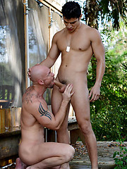 Mitch Vaughn and Lance fucking outdoor