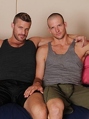 Beau Flexxx is known for his huge cock and Landon Conrad is a true porn star