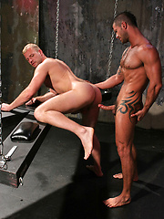 Blond bottom opens up his asshole