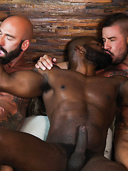 Rod Beckmann, Drew Sebastian, And Dolf Dietrich - Interracial Bareback Threesome