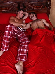 Hunks sex session in the bed