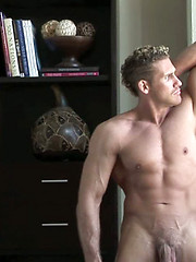 Strong straight hunk man in amateur session