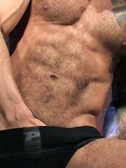 Hairy boy Alexsander Freitas is very happy to show off that superior body for the camera