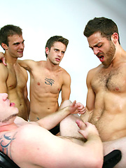 Two-on-two gay anal and oral scene