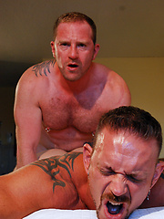 Adam Faust throws his bare cock back into Colin Steele willing hole